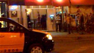 Wild dancing dude outside of Flash Taco in Chicago!