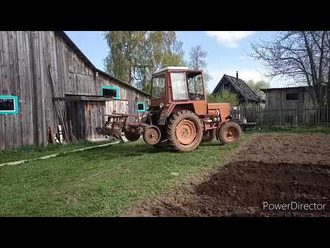 Самодельный окучник для трактора Т-25. Нарезка гребней под посадку картофеля