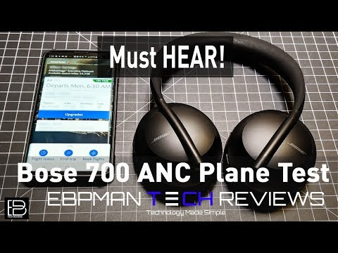 My First Flight with the Bose 700 Active Noise Cancelling Headphones | Real ANC Cabin Test!