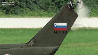 Helikopter Slovenske vojske v Ljutomeru