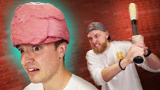 Will A Bubble Gum Helmet Protect Your Head?!