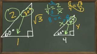 Common Core Math: Special Right Triangles 30-60-90 30 60 90