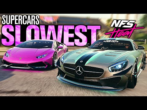 Need for Speed HEAT - SLOWEST Supercars???