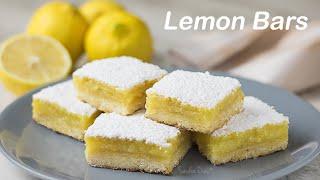 Lemon Bars - Barrinha De Limão Siciliano | Receita Sandra Dias