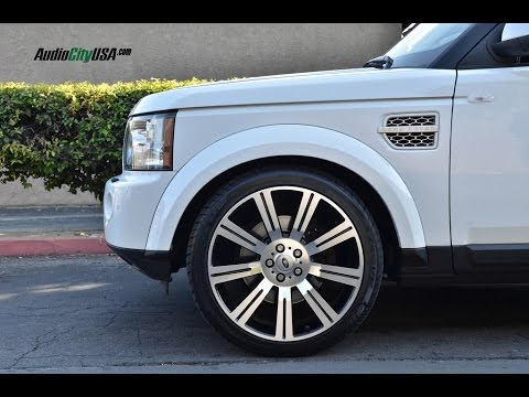 "Land Rover LR4 2012 with 22"" Stormer Replica Wheels at AudioCityUsa."