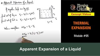 5. Class 11th Physics | Thermal Expansion | Apparent Expansion of a Liquid | by Ashish Arora