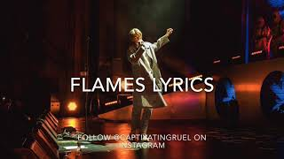 SG Lewis   Flames Ft. Ruel | Lyric Video