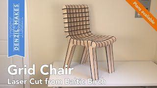 Laser Cut Plywood Grid Chair For The Rockler Plywood Challenge