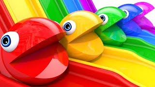 Learn Colors with PACMAN Magic Slide and Surprise Toy Street Vehicle Nursery Rhymes for Kid