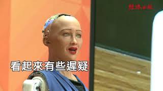 首位機器人公民來台 蘇菲亞:願學台語