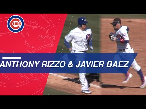 TEX@CHC: Anthony Rizzo homers and makes a great catch, as Javier Baez flashes leather