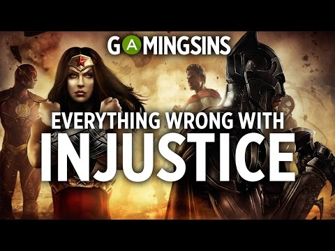 Everything Wrong With Injustice In 6 Minutes Or Less | GamingSins