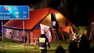 Pożar drewnianego domu w Miejscu Piastowym