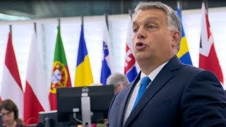 """""""Hungary will not be a country of migrants"""" - Viktor Orban's scathing address to European Parliament"""