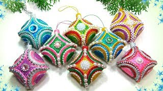 🎄Новогодние елочные игрушки своими руками из фоамирана 🎄 Diy Christmas Ornaments