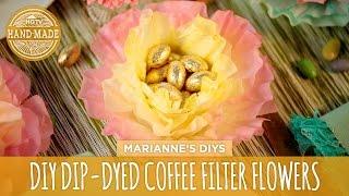 Dip-Dyed Coffee Filter Flowers - HGTV Handmade