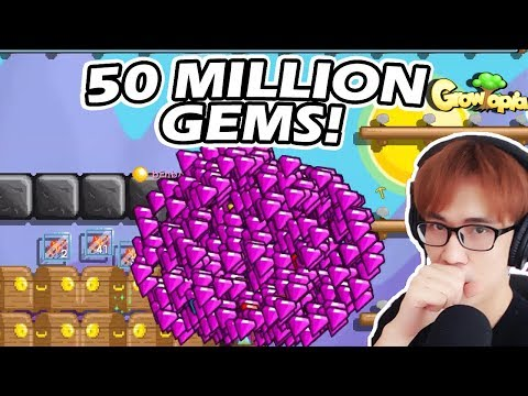 Getting 50 Million Gems! Picking Up 40 Million! | Growtopia