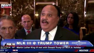 HISTORIC: Martin Luther King III Meets with Donald Trump on Father MLK Jr.