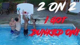 CRAZY 2 ON 2 POOL BASKETBALL GAME!