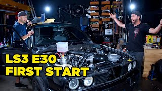 LS Swapped E30 // First Start (and NASTY interior surprise)
