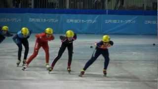 少年男子1000m予選4組-第68回国民体育大会冬季大会ショートトラック