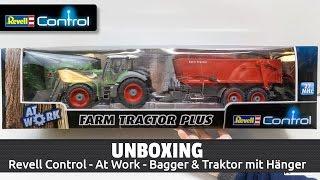 Unboxing: Revell Control - At Work - Kettenbagger & Traktor mit Anhänger (Deutsch)