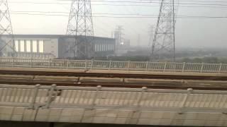 preview picture of video '중국홍차오역에서 쑤저우(소주)가는 열차에서 본 영상'