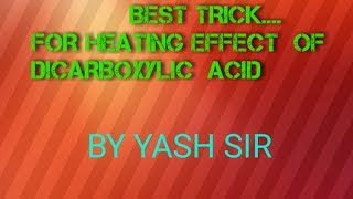 Heating of dicarboxylic acid..
