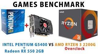 athlon 200ge vs ryzen 3 2200g rx 570 - TH-Clip