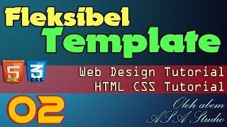 Fleksibel Template 2 Konsep CSS Pada Template Yang Fleksibel HTML CSS Tutorial