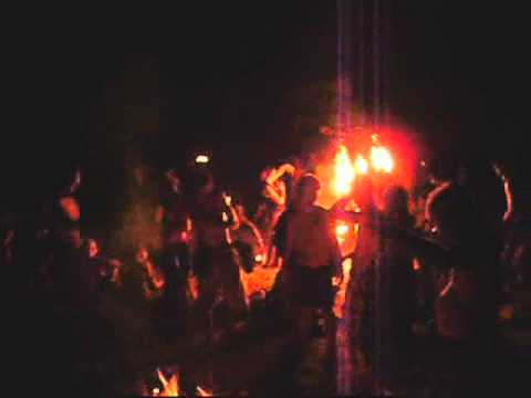 Rainbow gathering, national 2010; drumcircle and light up hoops