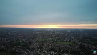 2021 Fimi Mini x8 SE Manual Big Orbit Mode Waypoint Flight 2.5k Aerial Cityscape Tour at Sunset Time