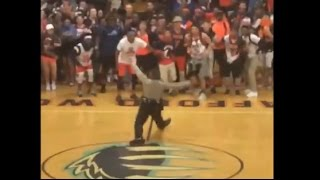 Officer Dances to Beyonce's Formation at Pep Rally