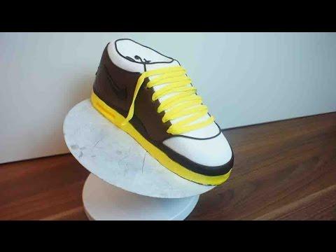 Sneaker Torte - Nike Schuh Kuchen - Tutorial Schuh Torte - von Kuchenfee