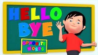 apprendre des mots opposés | Chanson éducative | Opposite Words Rhyme | Songs For Children & Kids