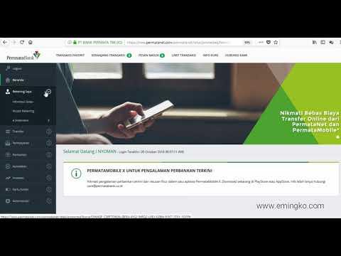 Cara Buat/Ubah Password e Statement Permata Bank