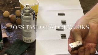 SPRAY PAINTING OLD  HINGES TO LOOK LIKE BRASS - ANTIQUE RESTORATION REPAIR FURNITURE