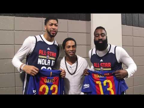 Ronaldinho Meets NBA All Stars