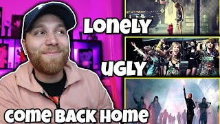 FIRST TIME REACTING TO 2NE1 - UGLY M/V- LONELY M/V- COME BACK HOME M/V