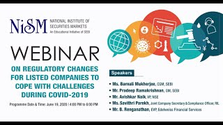 Part 1 Webinar on Regulatory changes for Listed Companies to cope with challenges during Covid-19