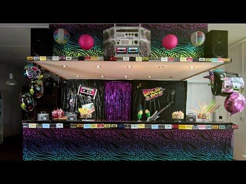 80er Jahre Party - Wir dekorieren Deine Party - Folge 2 - PartyDeko.de
