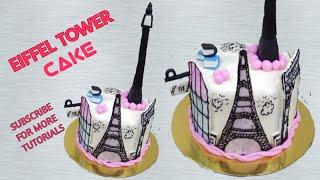 How To Make Eiffel Tower Fondant Cake