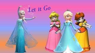 "Rosalina, Peach e Daisy: Let it Go (Elsa), de ""Frozen"" - Tradução - ""DISNEY/NINTENDO"""