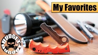 My Favorite Items/Best Gear -- Everyday Carry, Outdoor, Camping, Survival, Hunting, Knives & Guns