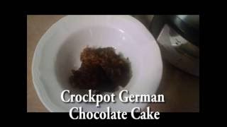 Crockpot German Chocolate Cake