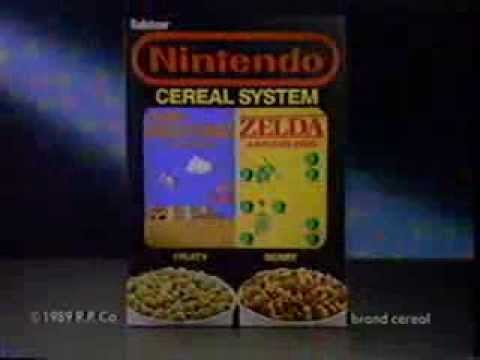 Game Commercial - Nintendo Cereal System with Super Mario and Zelda (1989)