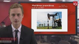 BRENT CRUDE OIL - Bourse - Cours du pétrole Brut Brent, ralentissement de la hausse - IG 25.05.2017