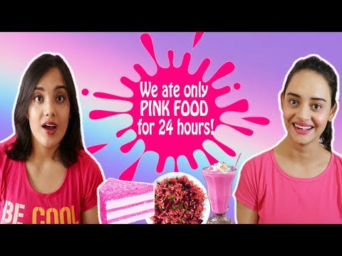 We only ate PINK Food for 24 hours Challenge | Life Shots