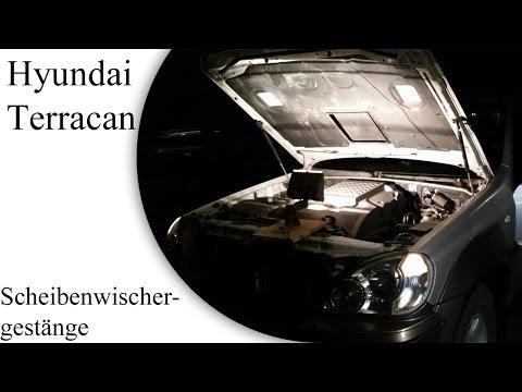 Hyundai Terracan Scheibenwischergestänge reparieren