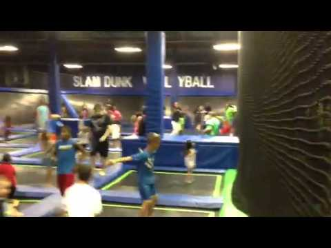 Off the wall trampoline fun center grand opening